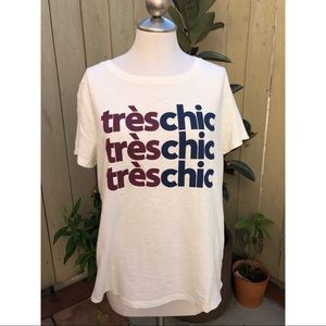 J Crew Tres Chic Tee shirt NWOT